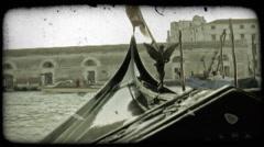 Gondola 44. Vintage stylized video clip. Stock Footage