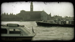 Venice Canal 12. Vintage stylized video clip. Stock Footage