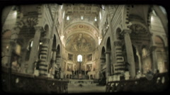 Italian cathedral 1. Vintage stylized video clip. Stock Footage