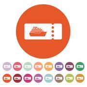 The cruise ship tickets icon. Travel symbol Stock Illustration