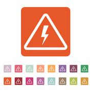 The lightning icon. Danger symbol. Flat Stock Illustration
