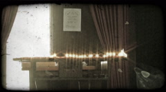 Stock Video Footage of Candles on Alter 1. Vintage stylized video clip.