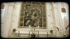 Cathedral Art 5. Vintage stylized video clip. - stock footage