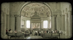 Cathedral Art 13. Vintage stylized video clip. - stock footage