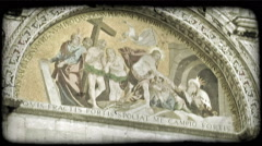 Cathedral Art 16. Vintage stylized video clip. - stock footage