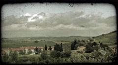 Italian landscape. Vintage stylized video clip. Stock Footage