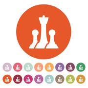 The chess icon. Game symbol. Flat - stock illustration