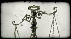Old metal scale. Vintage stylized video clip. Stock Footage