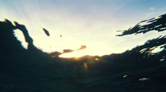 Underwater Pop Up Sunset - stock footage