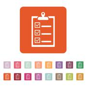 The checklist icon. Clipboard symbol. Flat - stock illustration
