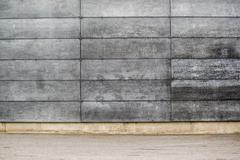 Concrete Wall with Rectangular Shaped Blocks Stock Photos