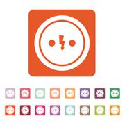 The Electrical Outlet icon. Socket symbol. Flat Stock Illustration