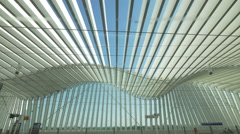 Railway station in Reggio Emilia, Italy. designe by architect Santiago Calatrava Stock Footage