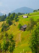 Traditional Slovenian mountain landscape - stock photo