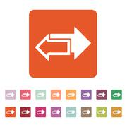 The left and right arrows icon. Arrows symbol - stock illustration