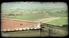 Italian landscape 3. Vintage stylized video clip. Stock Footage