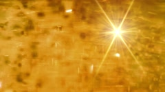 Golden festive lights Stock Footage