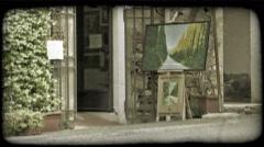 Italian Shop 2. Vintage stylized video clip. Stock Footage