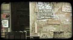 Italian Shop 4. Vintage stylized video clip. Stock Footage