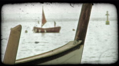 Italian Boats 1. Vintage stylized video clip. Stock Footage