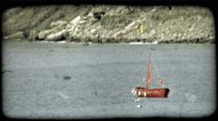 Italian Harbor 2. Vintage stylized video clip. Stock Footage