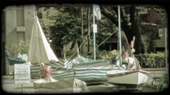 Italian Boats 3. Vintage stylized video clip. Stock Footage