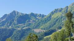 The slopes of the Aibga Ridge, Road. Russia, Sochi. 4K Stock Footage