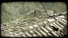 Italian Rooftops 1. Vintage stylized video clip. Stock Footage