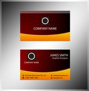 Business cards Template layout Stock Illustration