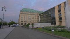 Hotel Adlon seen from Pariser Platz, Berlin Stock Footage