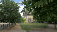 Berlin Cathedral Church seen from the park Stock Footage
