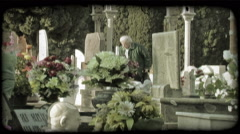 Italian Cemetery 2. Vintage stylized video clip. Stock Footage