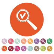 Magnifier Glass. Search icons. Vector. Set - stock illustration