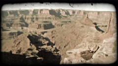 Dead Horse Point 2. Vintage stylized video clip. Stock Footage