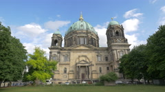 The beautiful Berlin Cathedral Church, Berlin Stock Footage