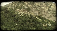 Green valleys 1. Vintage stylized video clip. Stock Footage
