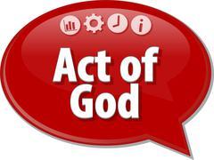 Act of God Business term speech bubble illustration - stock illustration