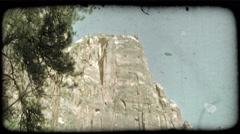 Zions glorious landscape. Vintage stylized video clip. Stock Footage