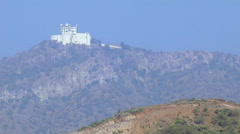Fort on the Aravalli Hills in Udaipur, India Stock Footage