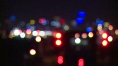 Dazzling night lights (Bokeh blur) Stock Footage