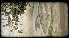 Christ Mural. Vintage stylized video clip. Stock Footage