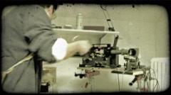 Film Camera 1. Vintage stylized video clip. Stock Footage