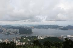 Mount Parker view  tseung kwan o - stock photo