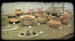 Ancient Pots 1. Vintage stylized video clip. Stock Footage
