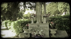 Italian Cemetery 1. Vintage stylized video clip. Stock Footage