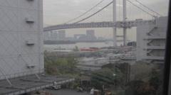 Bridge to Odaiba Japan - stock footage