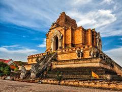 Wat Chedi Luang. Chiang Mai, Thailand Stock Photos