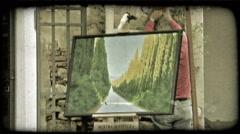 Italian Shop 3. Vintage stylized video clip. Stock Footage