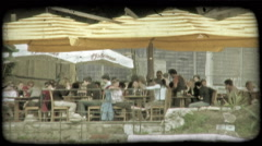 People in Italy 4. Vintage stylized video clip. Stock Footage