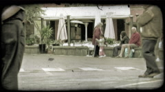 People in Italy 5. Vintage stylized video clip. Stock Footage